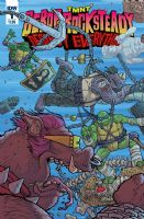 Teenage Mutant Ninja Turtles: Bebop & Rocksteady Destroy Everything - Full Set of 5 Comics